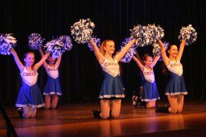 Cheerleader auf Bühne
